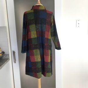 yipinyichu Dresses - Plaid Sweater Dress
